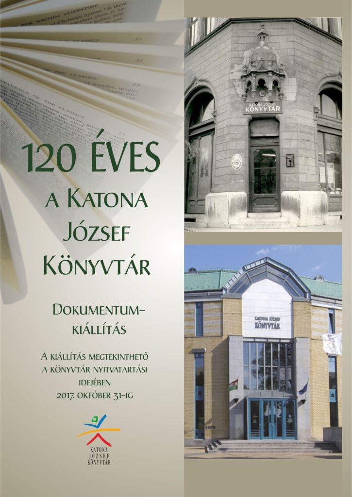 120 éves a Katona József Könyvtár - kiállítás plakát