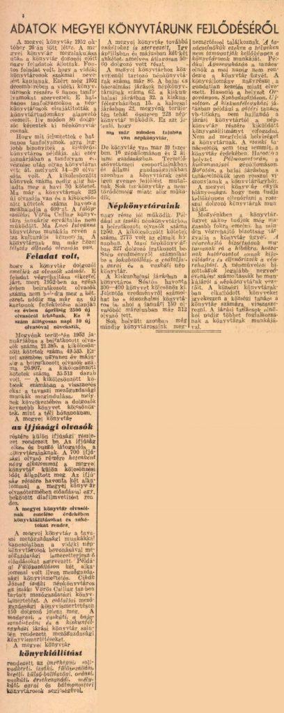 Bácskiskunmegyei Népujság, 1953. május 31.