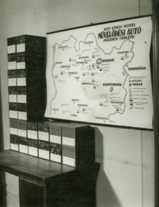 Művelődési autó működési térképe