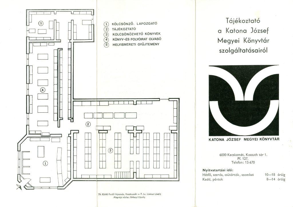 Tájékoztató a Katona József Megyei Könyvtár szolgáltatásairól