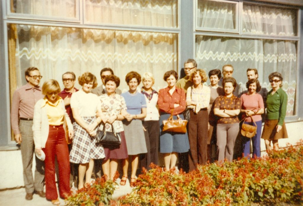 A megyei könyvtár munkatársai Balatonlellén 1974-ben