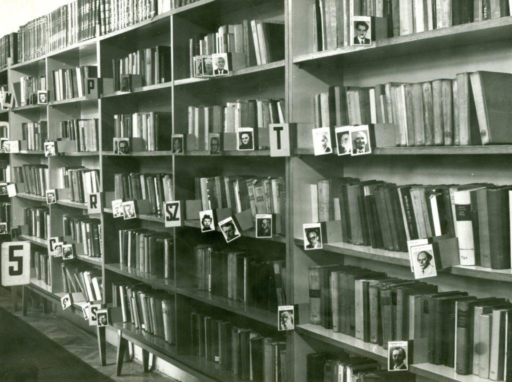 Olvasóterem az 1960-as években