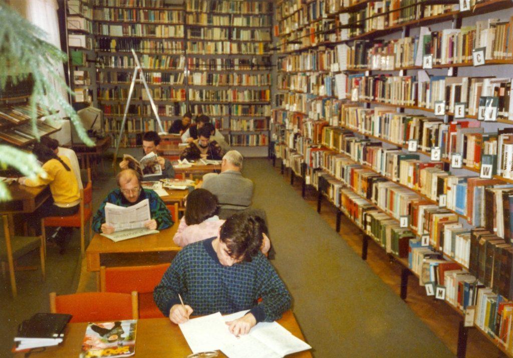 Olvasóterem az 1980-as években