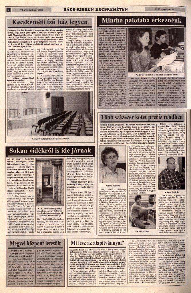 Kecskeméti Lapok - 1996. augusztus 15.