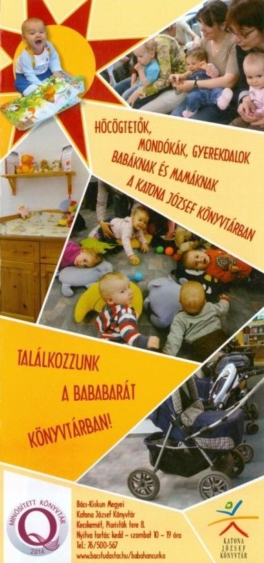 Bababarát könyvtár szórólap