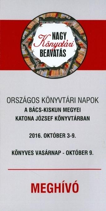 Országos Könyvtári Napok 2016.