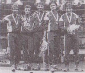 Tőrvívó csapat: Busa István, Érsek Zsolt, Gátai Róbert, Szekeres Pál, Szelei István