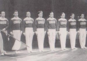 Tornászcsapat, Fekete József balról a negyedik