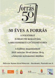 50 éves a Forrás - kiállítás plakát