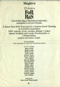 Forrás-est, 1994. március 16.
