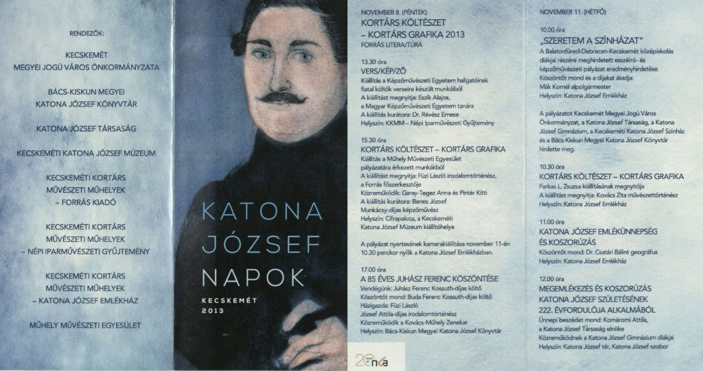Katona József Napok, 2013. november 8-11.