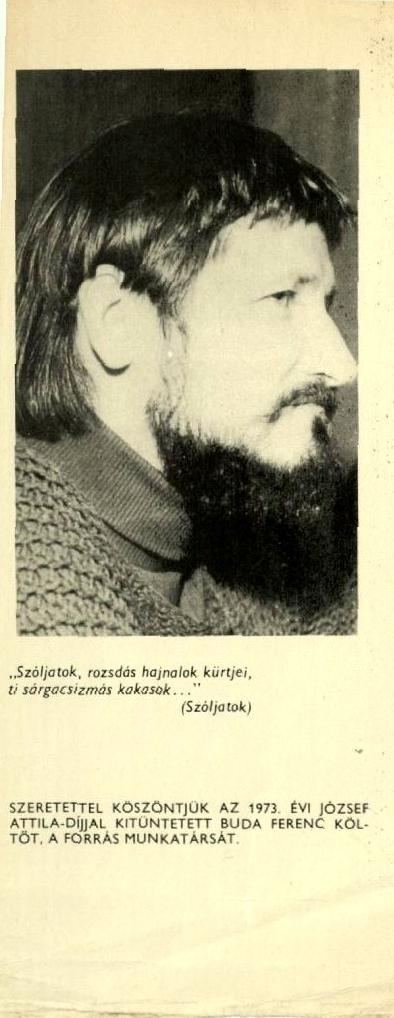 Buda Ferenc köszöntése 1973-ban