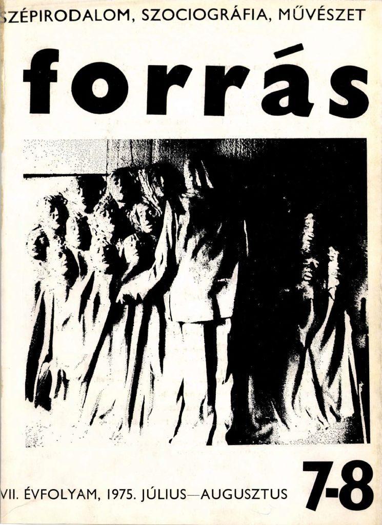 Forrás, 1975. 7-8. Kodály-különszám