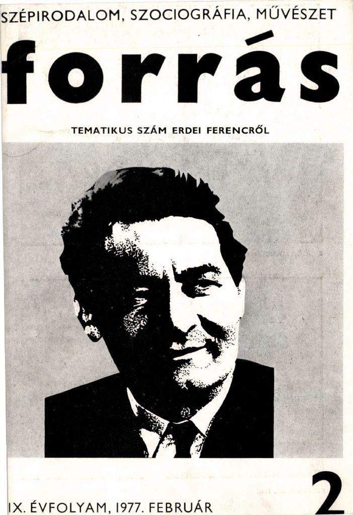 Forrás, 1977. 2. Erdei Ferenc-különszám