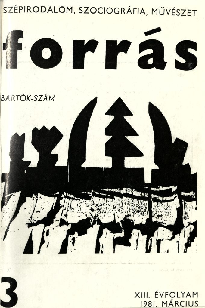 Forrás, 1981. 3. Bartók-különszám
