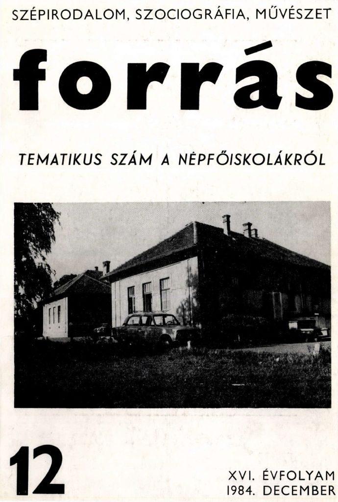 Forrás, 1984. 12. Népfőiskolák