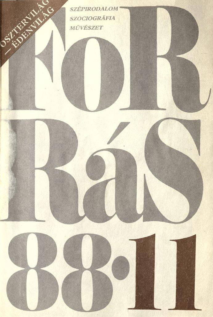 Forrás, 1988. 11. Posztervilág - édenvilág