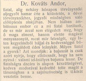 Dr. Kováts Andor