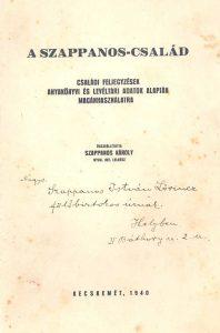 A Szappanos-család / összeállította Szappanos Károly