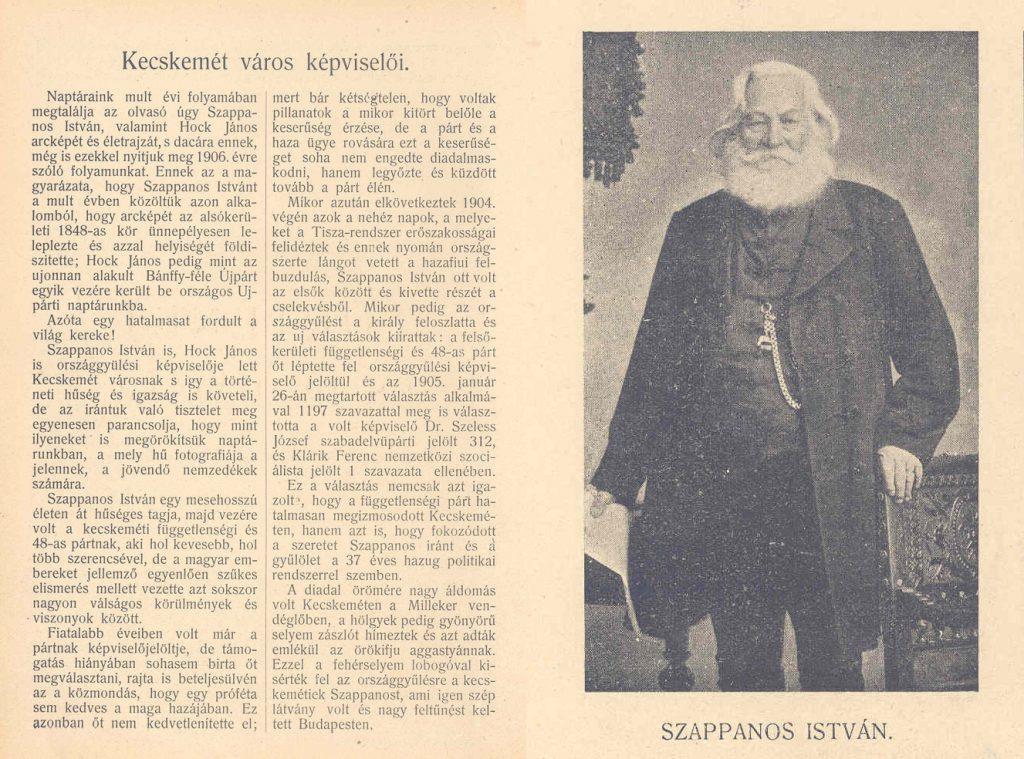 Kecskemét város képviselői - Szappanos István