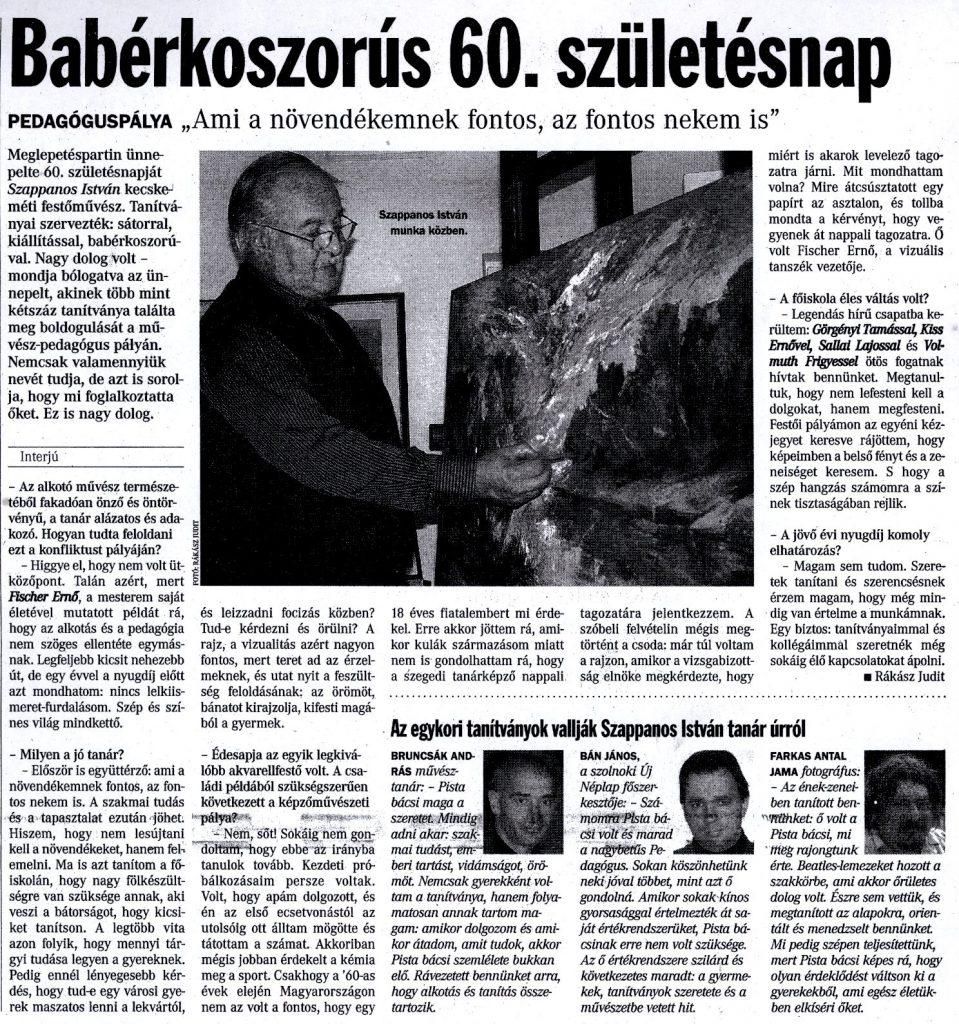 """Babérkoszorús 60. születésnap : """"Ami a növendékemnek fontos, az fontos nekem is"""" / Rákász Judit"""