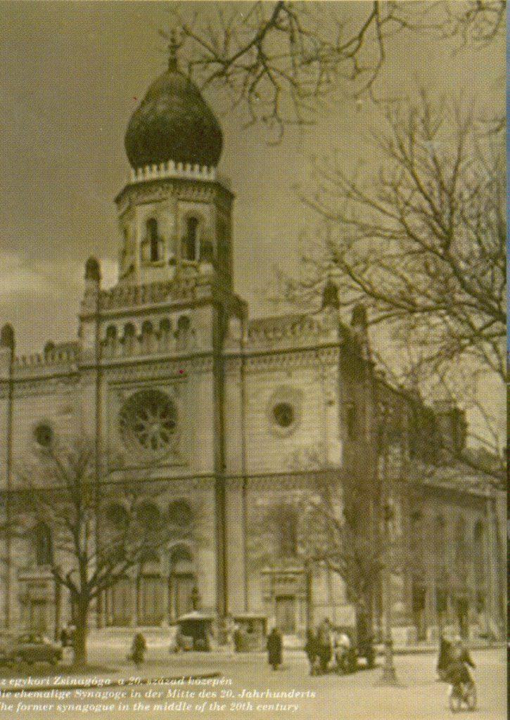 A neológ zsinagóga az 1940-es években