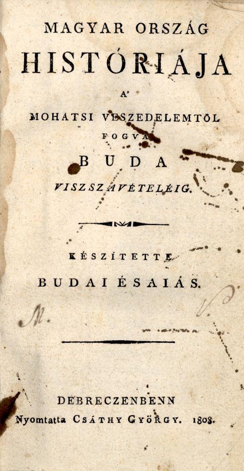 Magyar ország históriája