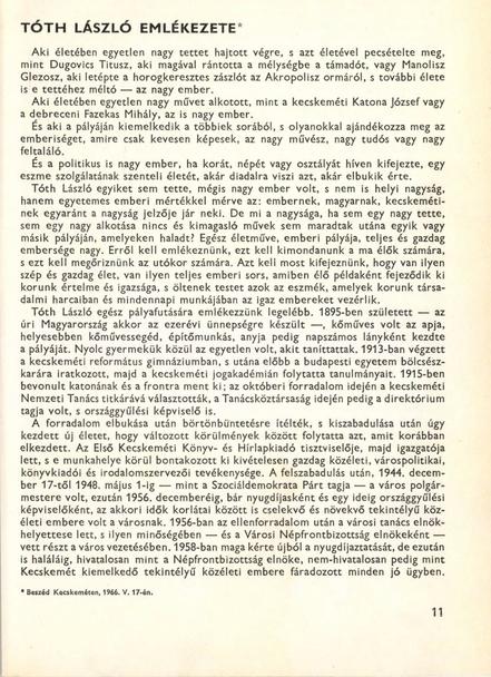 Erdei Ferenc: Tóth László emlékezete