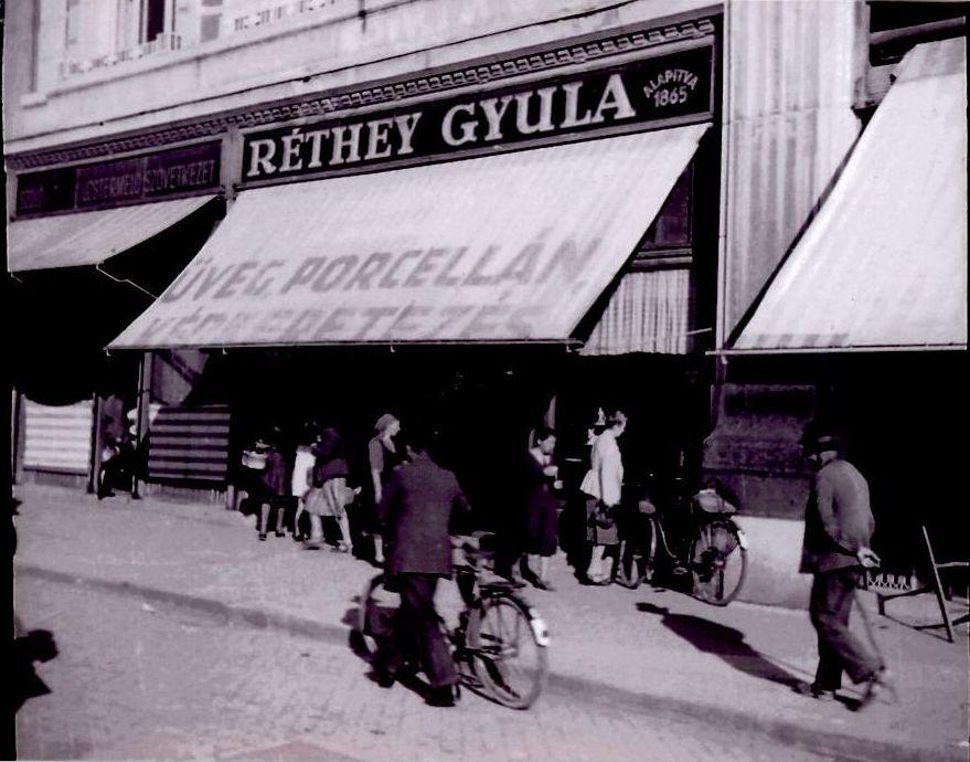Réthey Gyula üzlete az 1930-as években.