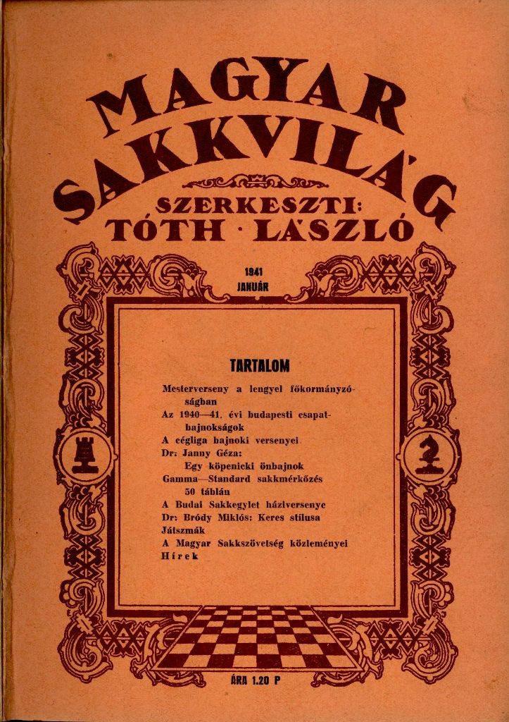 Magyar Sakkvilág - 1941. január