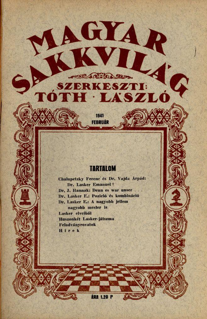 Magyar Sakkvilág - 1941. február