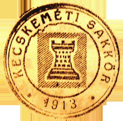 Az 1913-ban alakult Kecskeméti Sakkör emblémája