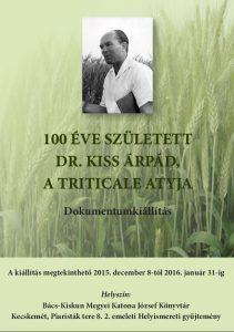 Dr. Kiss Árpád emlékkiállítás plakátja