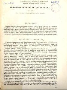 Görögdinnyefajták vizsgálata