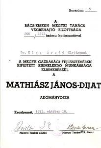Mathiász János-díj