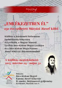Az emlékkiállítás plakátja