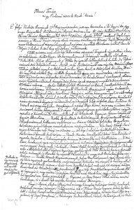 Mátyási József 1827. március 27-én kelt levele Kecskemét város Nemes Tanácsához