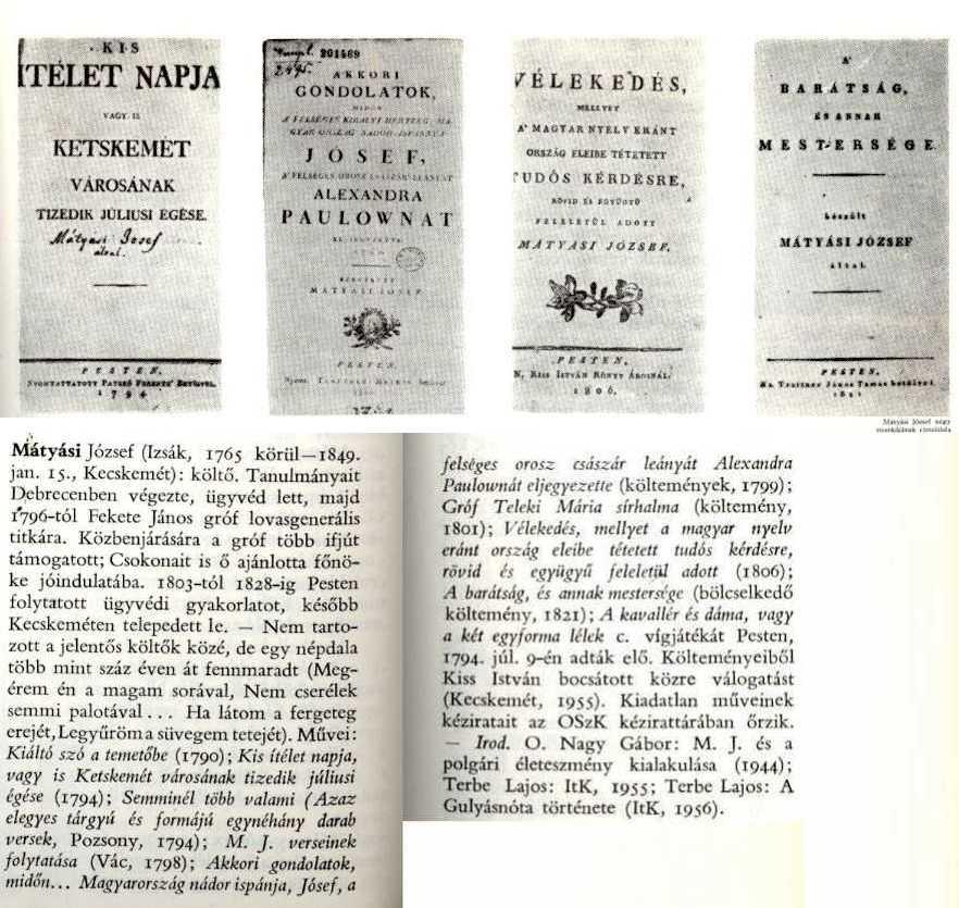 Magyar Irodalmi Lexikon szócikke