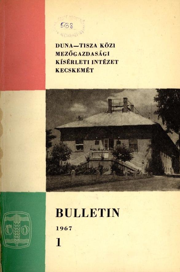 Duna-Tisza Közi Mezőgazdasági Kísérleti Intézet bulletinje
