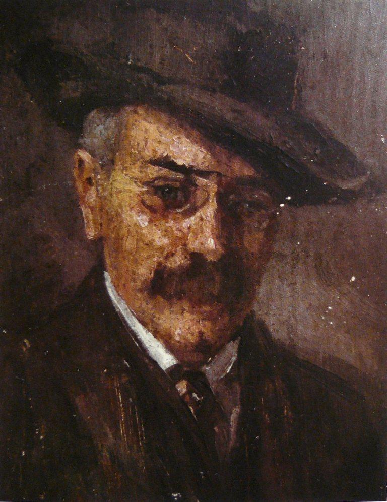 Henrik Moór: Emanuel Moór portré (olajfestmény)