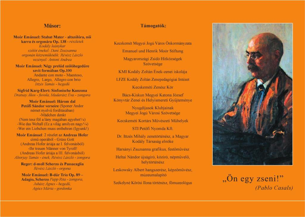 Kiállítás és koncert születésének 150. évfordulóján Kecskeméten