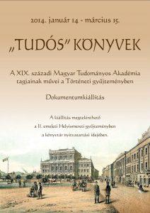 """""""Tudós"""" könyvek - dokumentumkiállítás plakátja"""