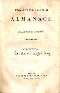 Magyar Tudományos Akadémiai almanach