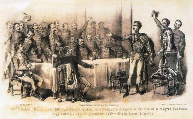 Gróf Széchenyi István 1825-dik évi nov. 4-ikén Pozsonyban