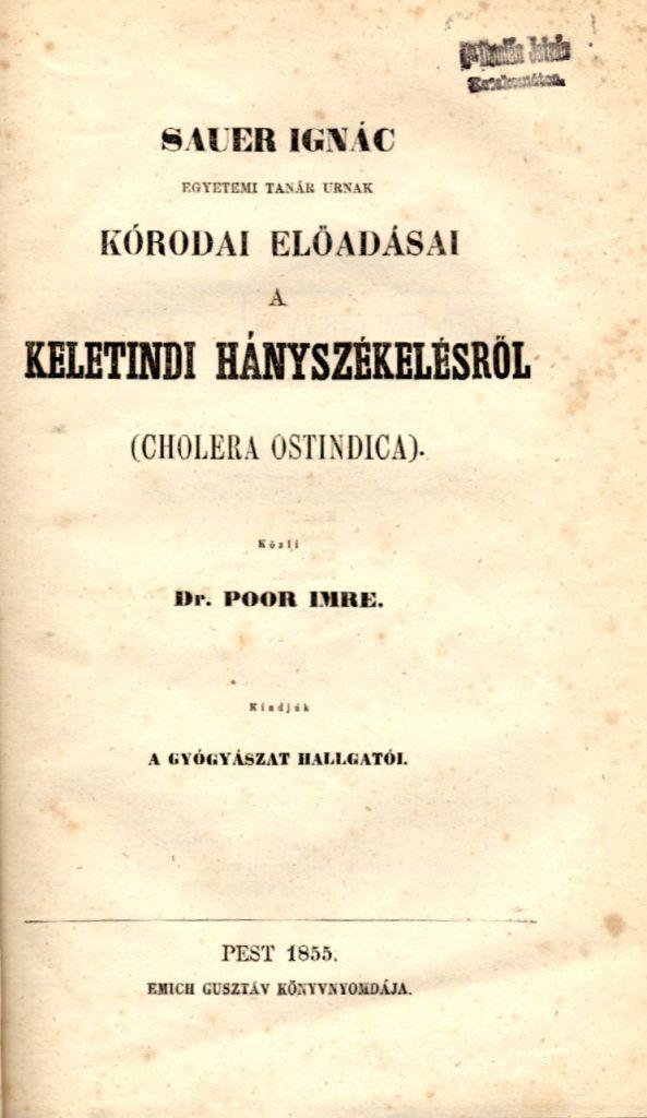 Sauer Ignác Kórodai előadásai