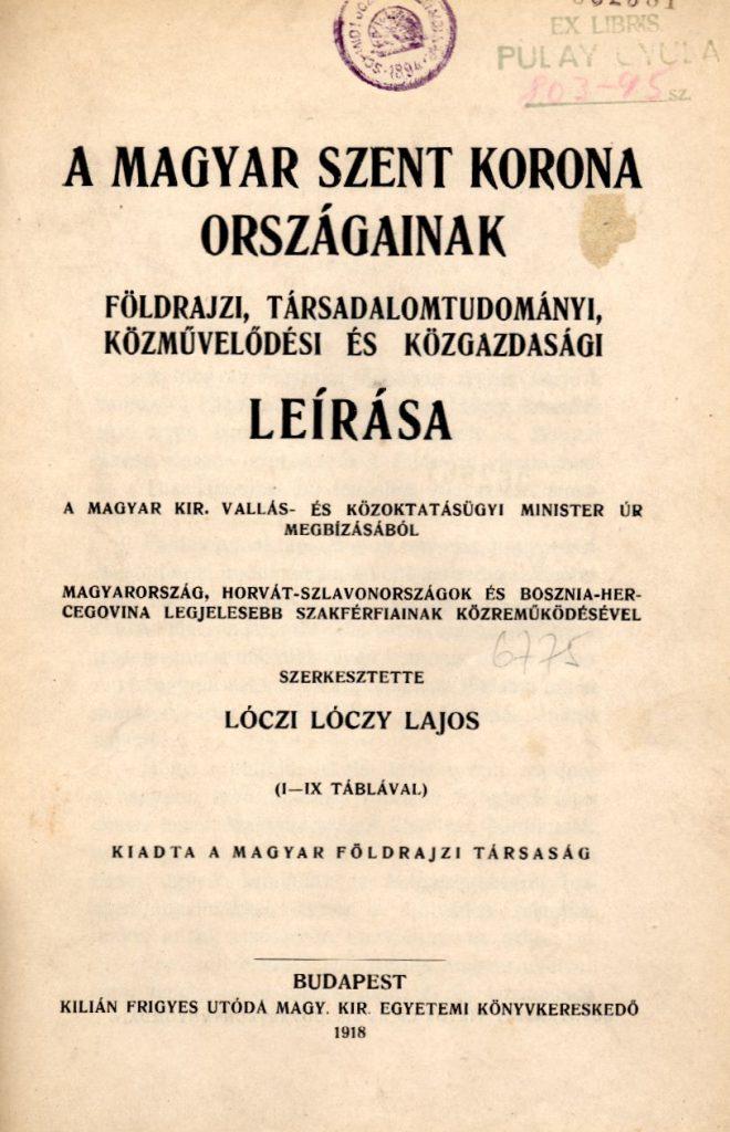 A Magyar Szent Korona országainak leírása